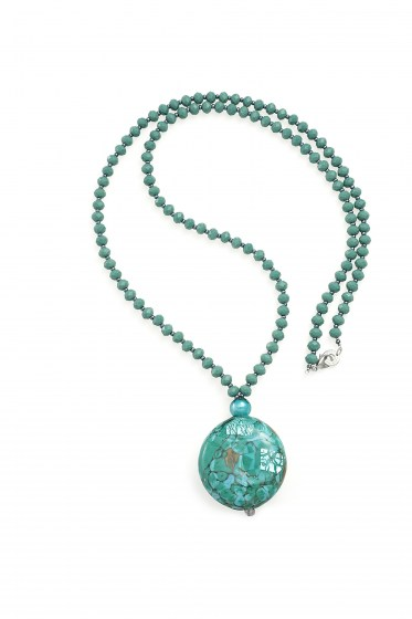 NECKLACE FENICE LUNGA GREEN