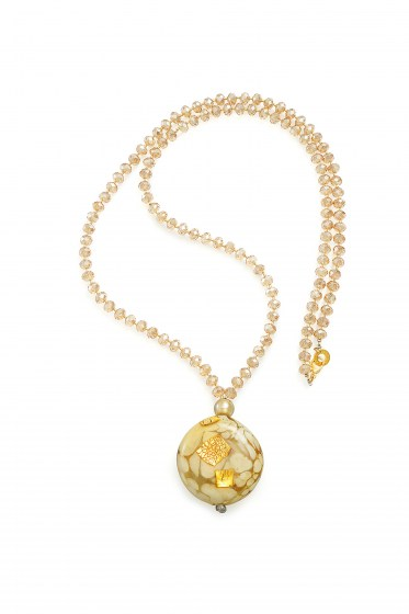 NECKLACE FENICE LUNGA CHAMPAGNE