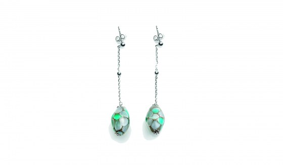 EARRINGS SMERALDA STERLING SILVER